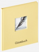 Walther Design Gästebuch Fun, creme, 26x25 cm
