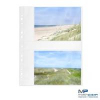 Fotohüllen 13x18 cm Fotosichthüllen weiß quer
