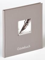 Walther Design Gästebuch Fun, grau, 26x25 cm