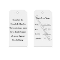 mashpaper Kartonetiketten weiß Hängeetiketten aus Karton mit Druck