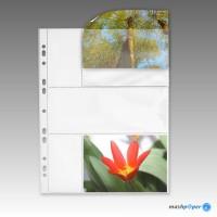 100 Fotohüllen 10x15 cm Fotosichthüllen weiß quer