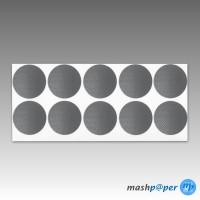 500 Gewebeklebepunkte silber 30 mm Klebepunkte aus Gewebeband