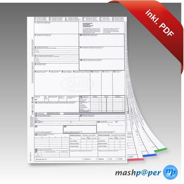 CMR Frachtbrief Für Laserdrucker Mit PDF Vorlage (Software