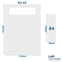 mashpaper Papier perforiert 160 x 44,0 mm 6 Nutzen
