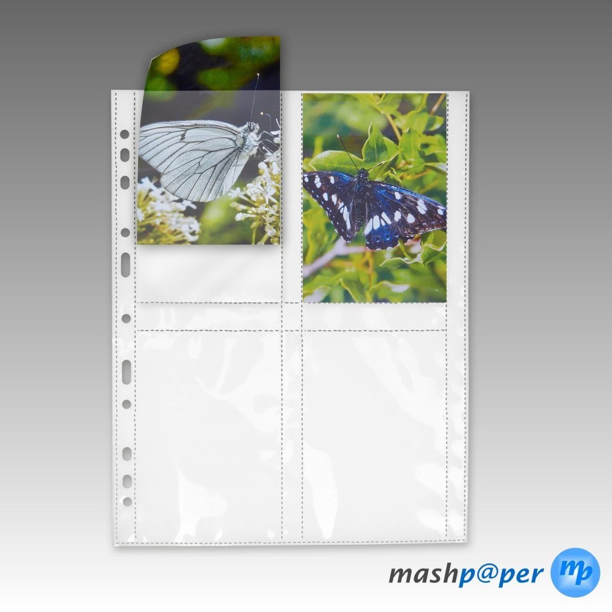 Fotophan-Sichthüllen 9x13cm hoch schwarz 10 Hüllen