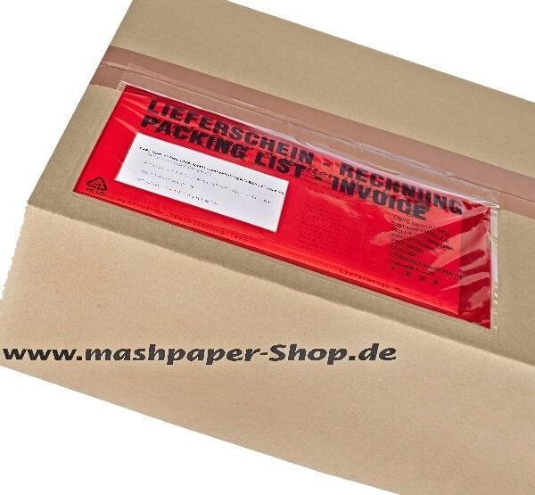Lieferscheintaschen - made in Germany