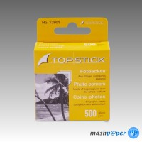 500 TOP STICK Transparol Fotoecken im Kartonspender (GP 10 Packungen à 500 Stück)