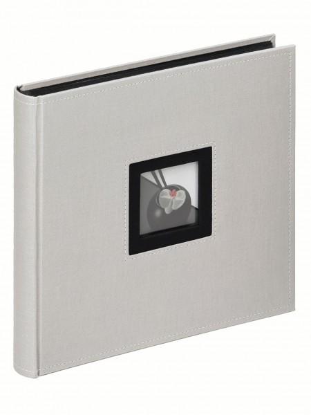 Designalben B and W Leinenalbum, grau, 26X26