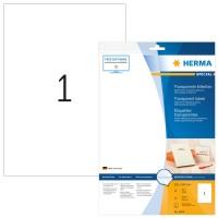 HERMA 8964 Transparente Inkjet-Folien-Etiketten A4, 210 x 297