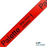 Palette Bitte nicht belasten! Klebeband Packband rot 50mmx66m