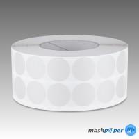 2.500 Gewebeklebepunkte weiß 30 mm Klebepunkte aus Gewebeband