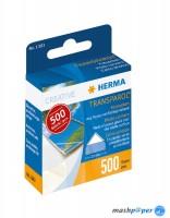 500 Transparol Fotoecken im Kartonspender / HERMA 1383
