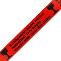 Bruchgefahr! Nicht werfen Klebeband Packband rot 50mmx66m
