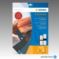 HERMA Fotohüllen 9x13 cm Fotophan schwarz hoch