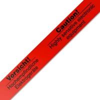 Vorsicht! Hochempfindliche Elektrogeräte Klebeband Packband rot 50mmx66m