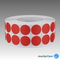 2.500 Gewebeklebepunkte rot 30 mm Klebepunkte aus Gewebeband