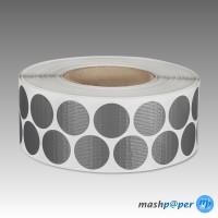 4.000 Gewebeklebepunkte silber 30 mm Klebepunkte aus Gewebeband