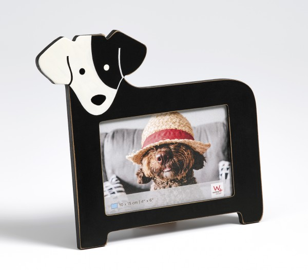 Portraitrahmen Hund, 10x15 cm, schwarz