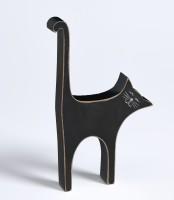 Walther Design Dekofigur Katze, schwarz, Höhe 17 cm