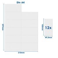 mashpaper Papier perforiert 105 x 49,5 mm 12 Nutzen