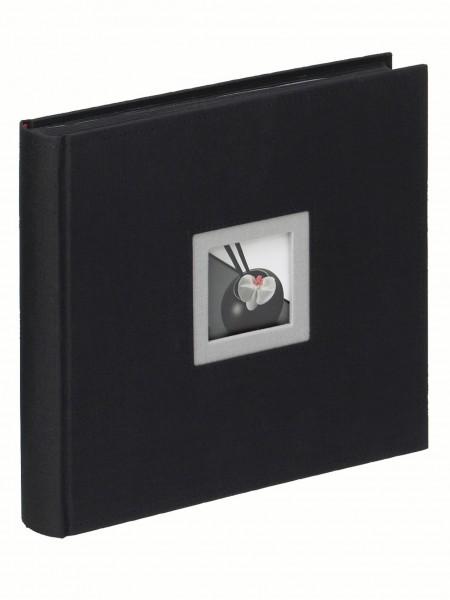 Designalben B and W Leinenalbum, schwarz 26X26