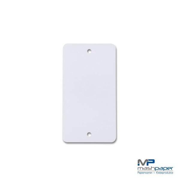 671001 Kunststoffanhänger weiß papierumklebt 55 x115_14427