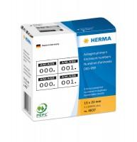 Anlagenummern zweifach schwarz - schwarz / HERMA 4837