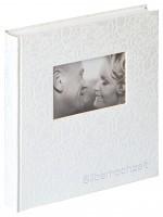 Walther Design Silberhochzeitsalbum Music,weiß, 28X30,5 cm