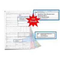 mashpaper CMR Frachtbrief Einzelsatz mit Firmeneindruck