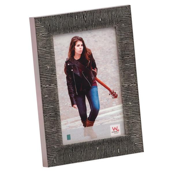 Elaine Portraitrahmen, 10x15 cm, schwarz/silber