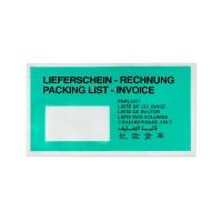 Unipack Lieferscheintasche grün umweltfreundlich DIN Lang aus Papier