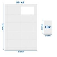 mashpaper Papier perforiert 86 x 54,0 mm 10 Nutzen