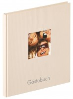 Walther Design Gästebuch Fun, sand, 26x25 cm