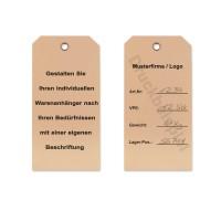 mashpaper Kartonetiketten braun Hängeetiketten aus Karton mit Druck