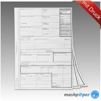 mashpaper Frachtbrief für Laserdrucker national LKW / KVO mit Firmeneindruck