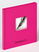 Walther Design Gästebuch Fun, pink, 26x25 cm