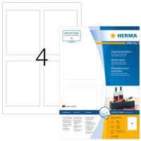 HERMA 4603 Flaschenetiketten weiß permanent 90x120 mm