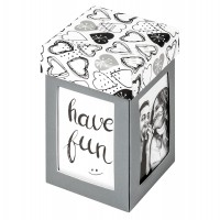 Walther Design Fotogeschenkbox Surprise, Explosionsbox grau