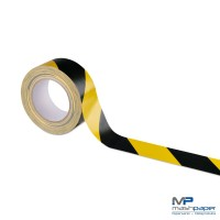 Premium Gewebeklebeband (Warnband) 50 mm schwarz-gelb 25 m